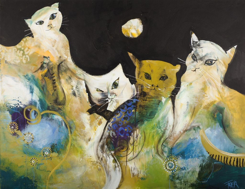 CATS - Original Paintings - wymiary 120x90cm