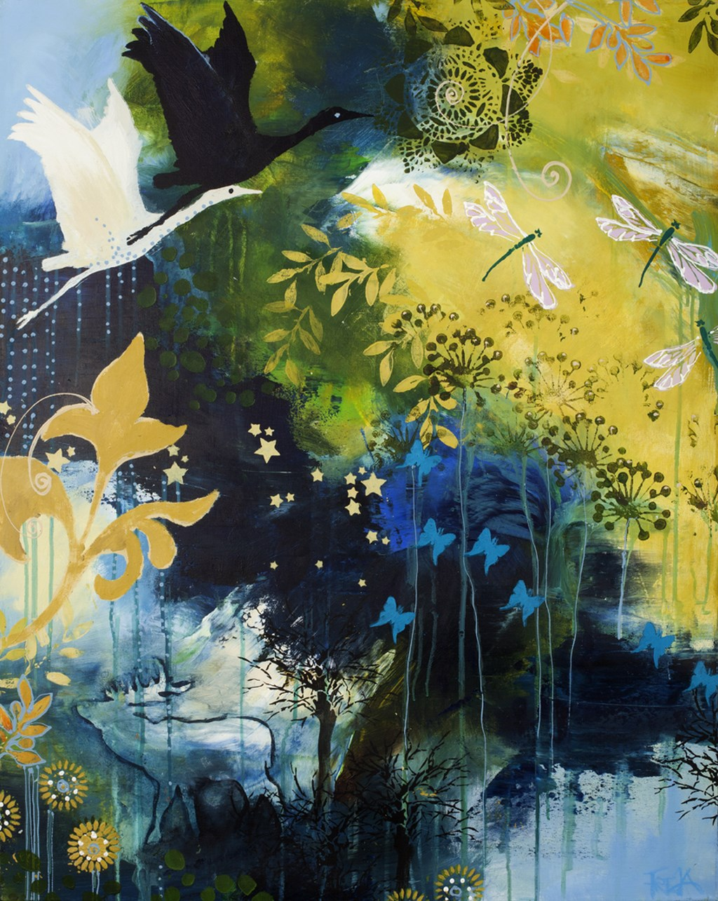 DREAM FOREST 2 - Original Paintings - wymiary 80x100cm