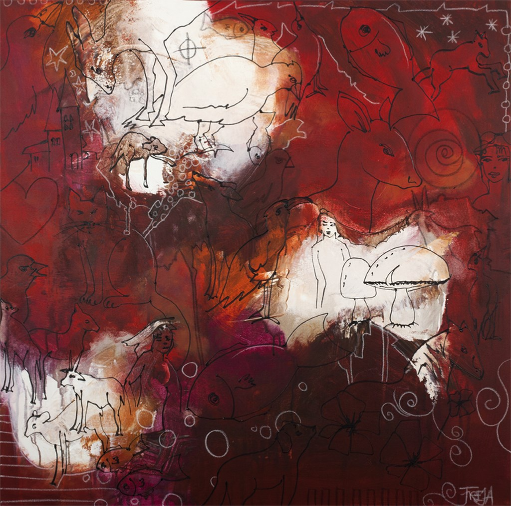 RED FABEL 1 - Original Paintings - wymiary 70x70cm