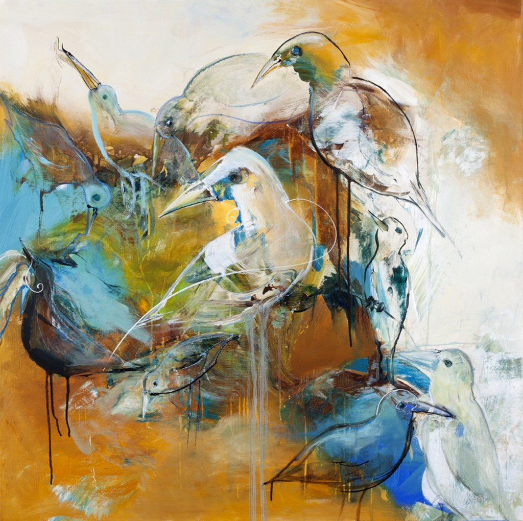 TURTLEDOVE 1 - Original Paintings - size 100x100cm