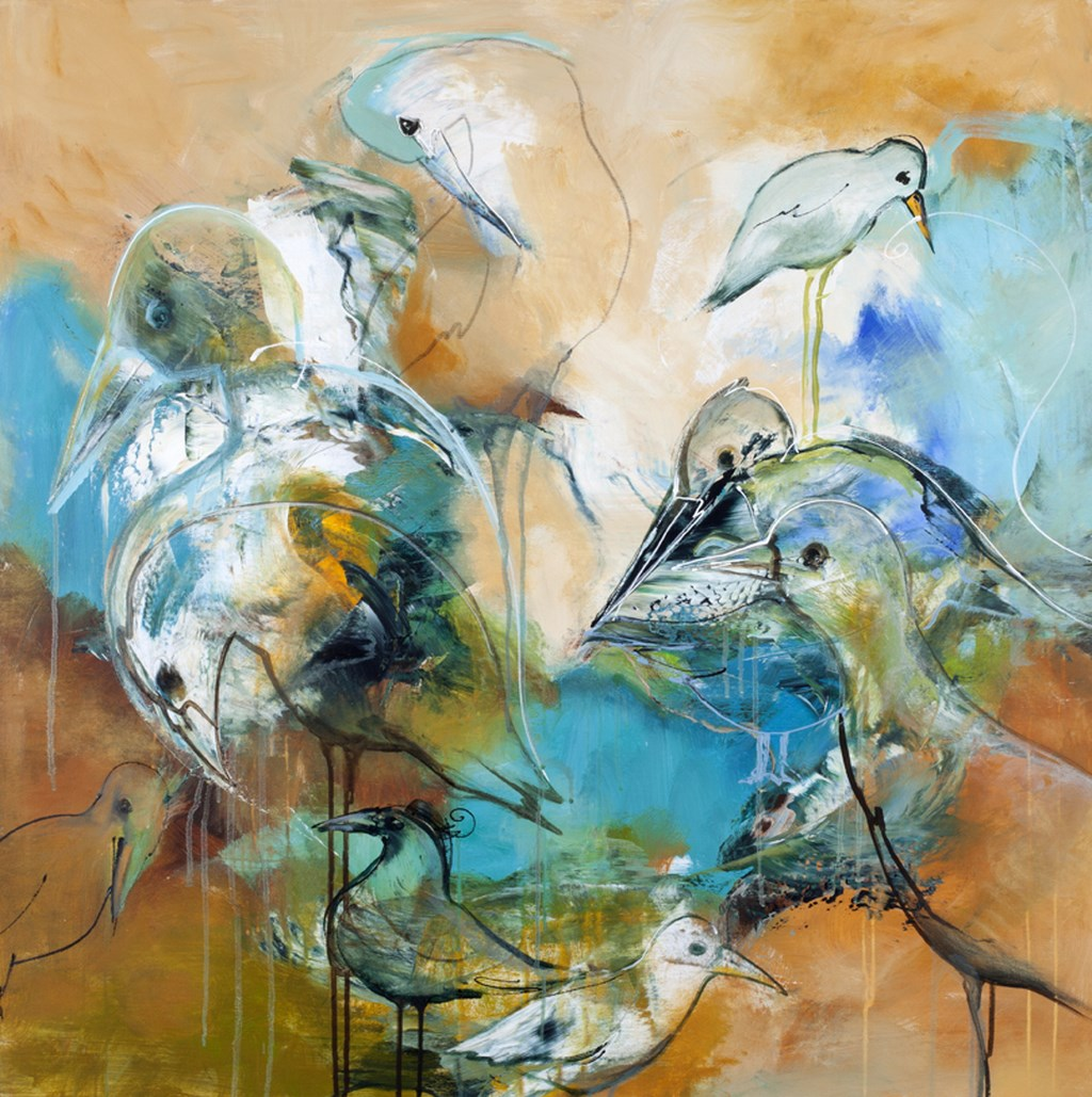 TURTLEDOVE 2 - Original Paintings - size 100x100cm