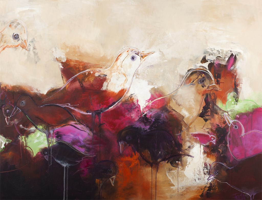 TURTLEDOVE 3 - Original Paintings - wymiary 120x90cm