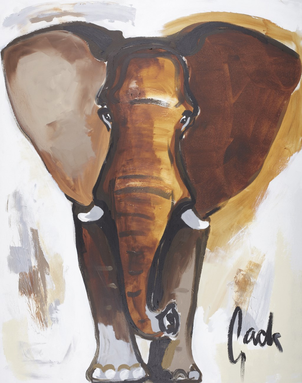 ELEPHANT 3 - Original Paintings - wymiary 80x100cm