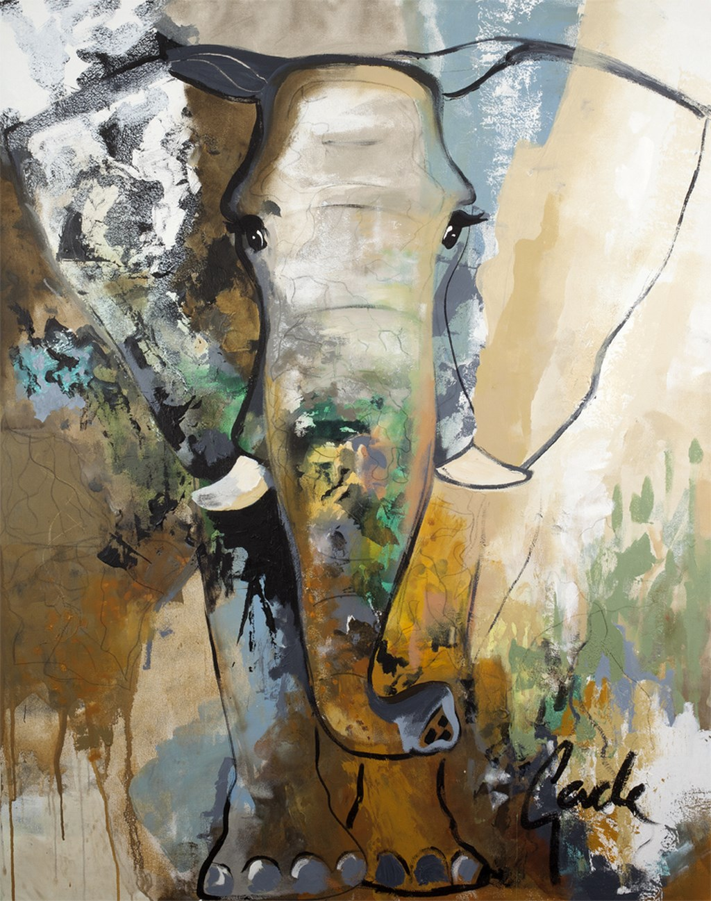 ELEPHANT TOUCH - Original Paintings - size 90x120cm