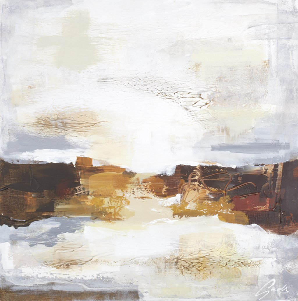 HORIZON 1 BROWN - Original Paintings - size 100x100cm