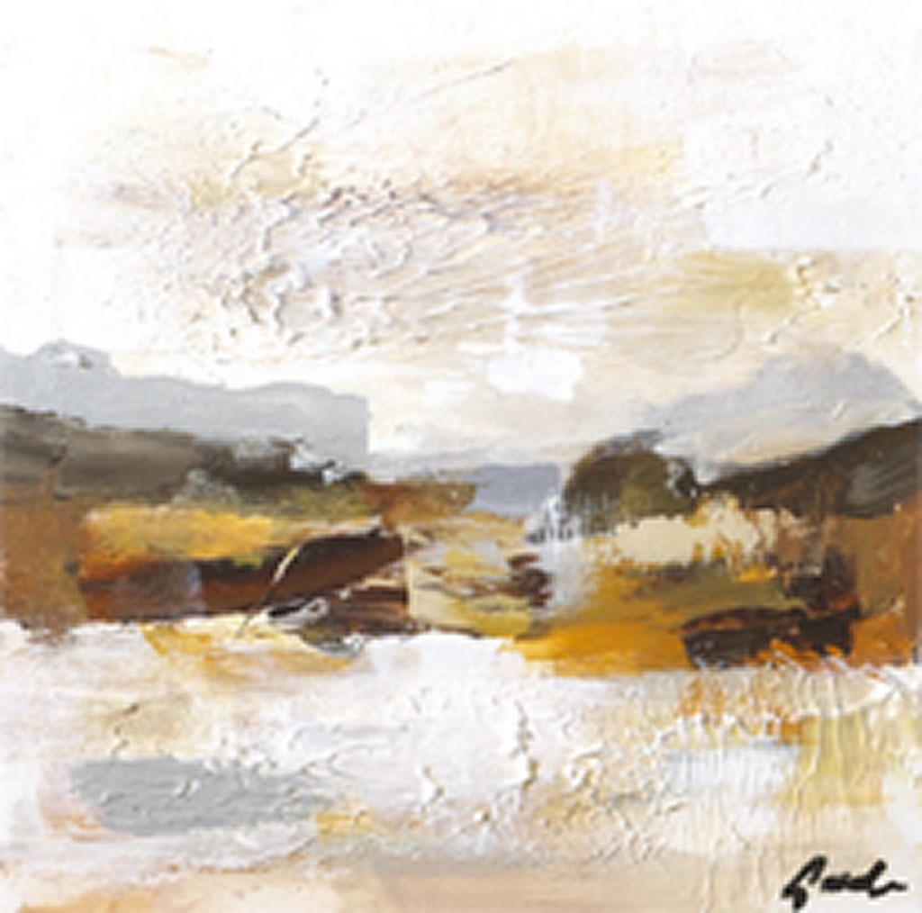 HORIZON 2 BROWN - Original Paintings - wymiary 100x100cm