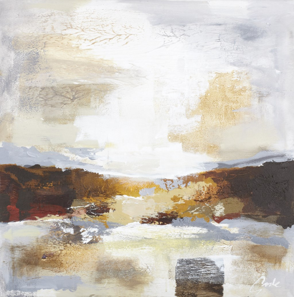 HORIZON 2 BROWN - Original Paintings - wymiary 70x70cm