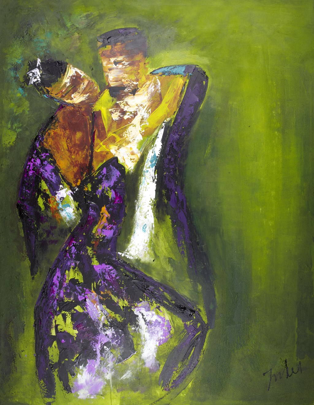 DANCE GREEN - Original Painting - wymiary 118x150cm