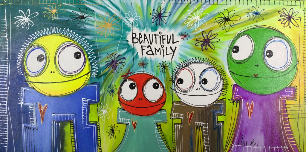 BEAUTIFUL FAMILY 9 - Original Painting - wymiary 140x70cm