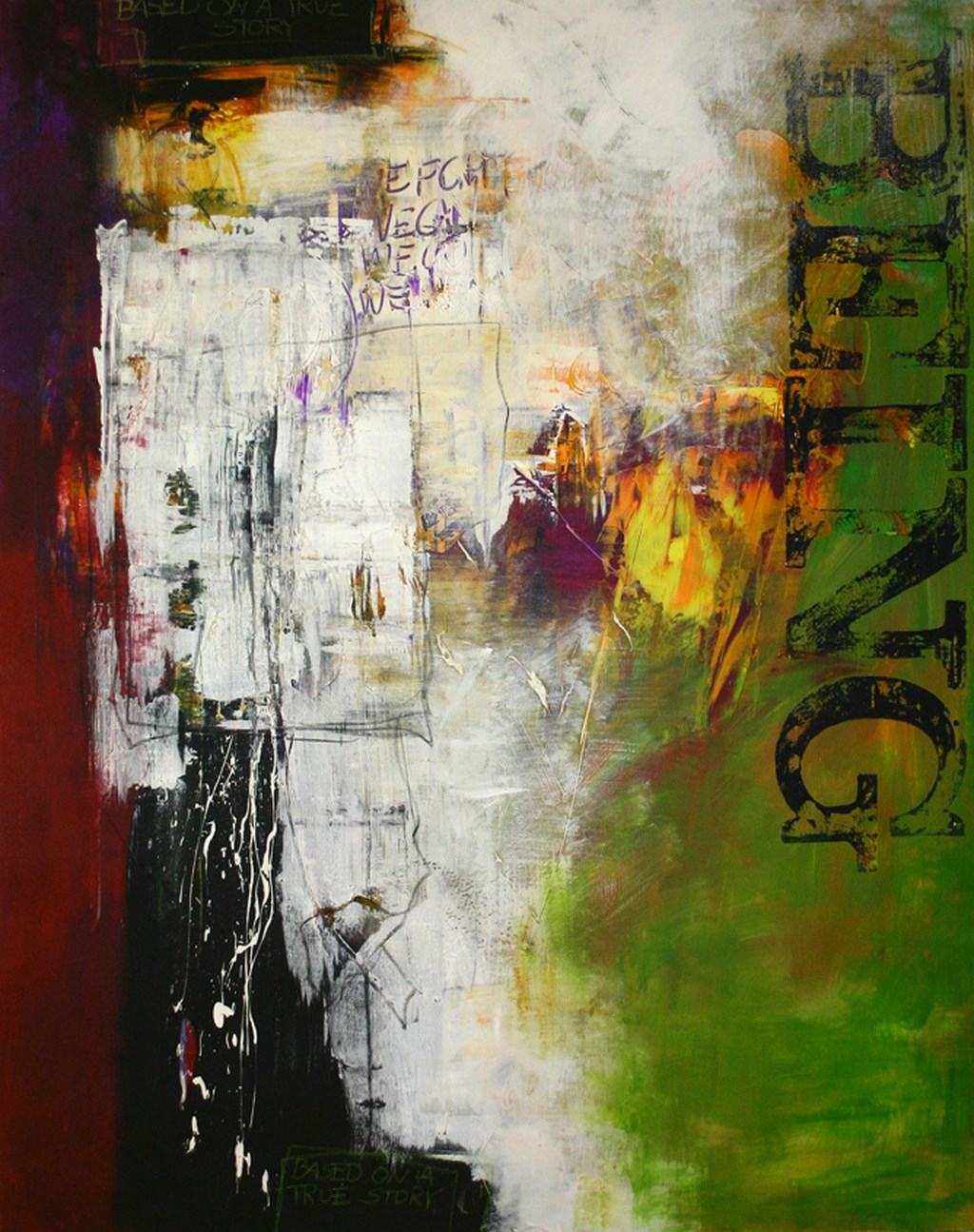 BEING - Original Painting - wymiary 118x150cm