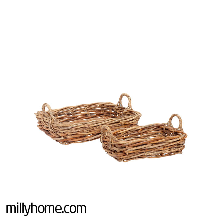 BASKETS square rattan