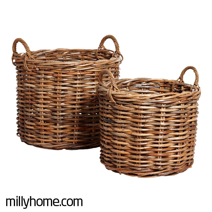 BASKET W/HANDLE round
