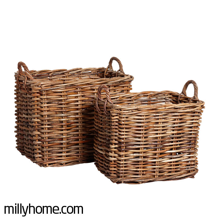 BASKET W/HANDLE square