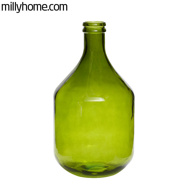 BOTTLE recycled glass green