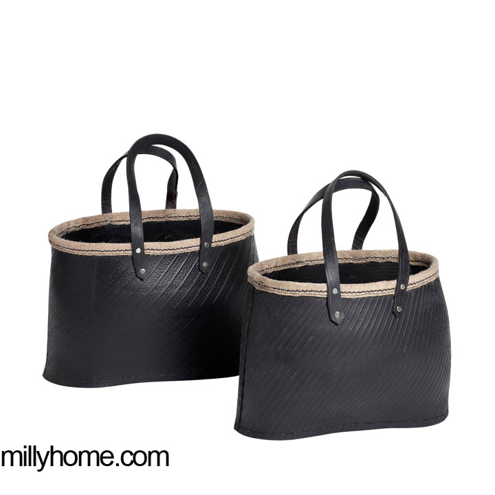 STORAGE BASKET oblong black