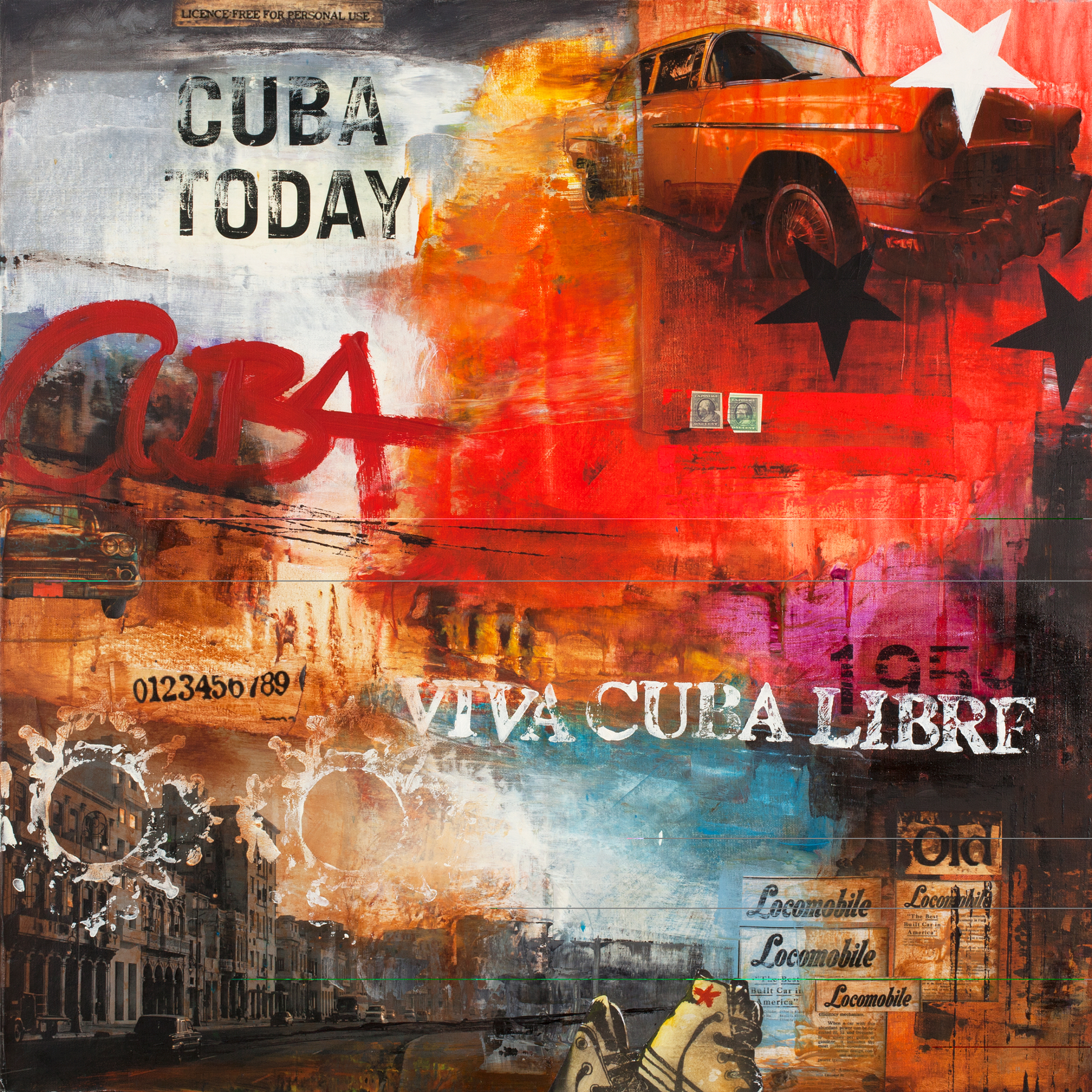CUBA TODAY - Printed Wall Deco - 100 x 100 cm