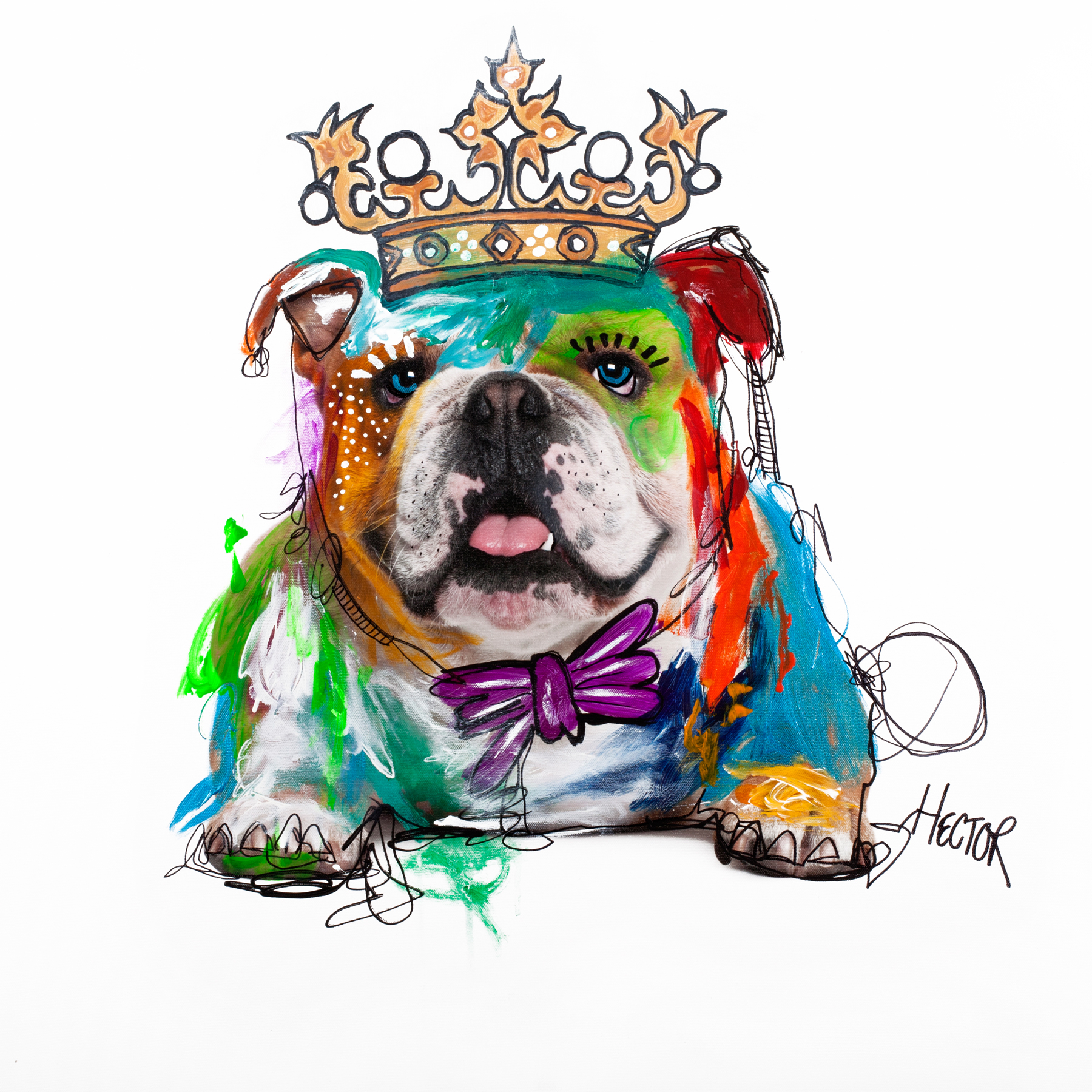 BULLDOG - Printed Wall Deco - 70 x 70 cm