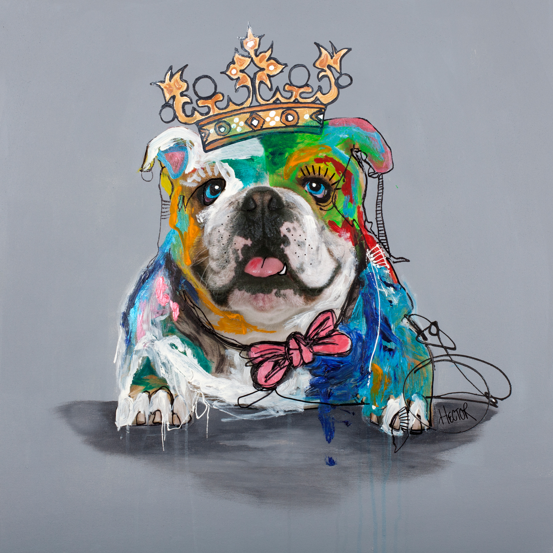 BULLDOG 2 - Printed Wall Deco - 70 x 70 cm