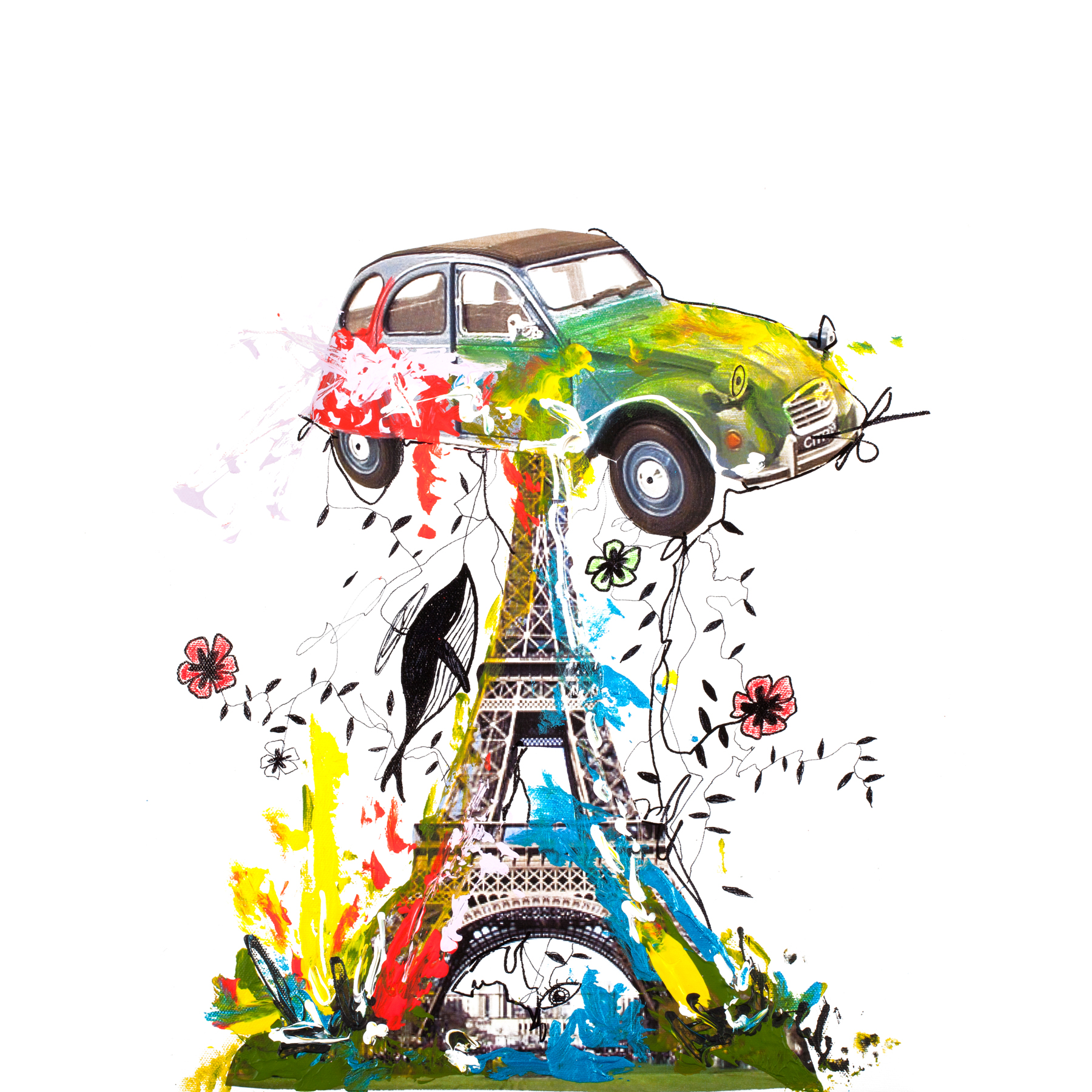 PARIS - Printed Wall Deco - 70 x 70 cm
