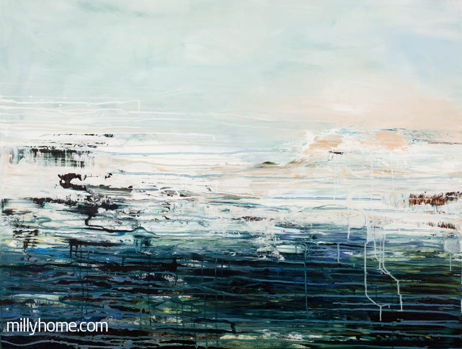 DEEP WATER - Original Painting - wymiary 120 x 90cm