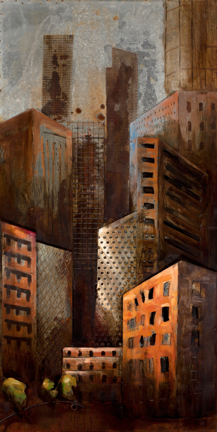 METAL ART 3D - Buildings - 60 x 120 cm