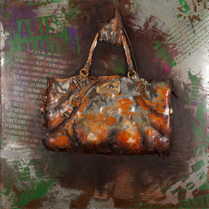 METAL ART 3D - Purse - 80 x 80 cm